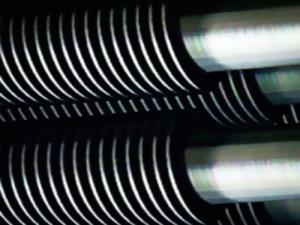 Spiral finned tube welding equipment